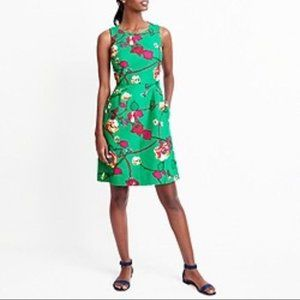 J. Crew Factory Pink Garden Kelly Green Dress